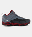 Under Armour Men's UA Tabor Ridge Low Boots - Stealth Gray/Daredevil Red/Ivory
