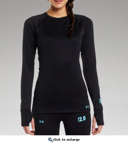 Under Armour Women's UA Base 2.0 Crew Shirt