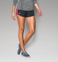 Under Armour Women's UA Fly-By Run Short - Anthracite/Harmony Red/Reflective