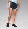 Under Armour Women's UA Fly-By Run Short - Black/Pink Sky/Reflective