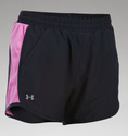 Under Armour Women's UA Fly-By Run Short - Black/Verve Violet/Reflective