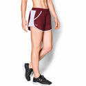 Under Armour Women's UA Fly-By Run Short - Cardinal/White/Reflective
