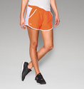 Under Armour Women's UA Fly-By Run Short - Orange/White/Reflective