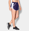 Under Armour Women's UA Fly-By Run Short - Purple/White/Reflective