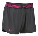 Under Armour Women's UA Play Up Short - Phantom Gray/Tropic Pink/Tropic Pink