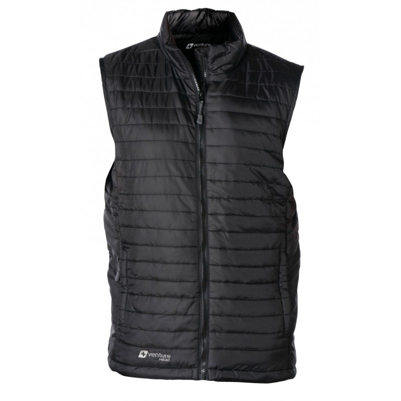 Venture Heat Mens Heated Puffer Vest With 5v Usb Power Bank