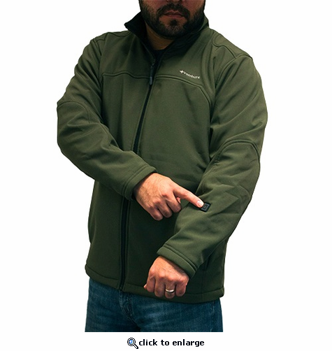 Venture Heat Insulated Softshell Heated Jacket - Green