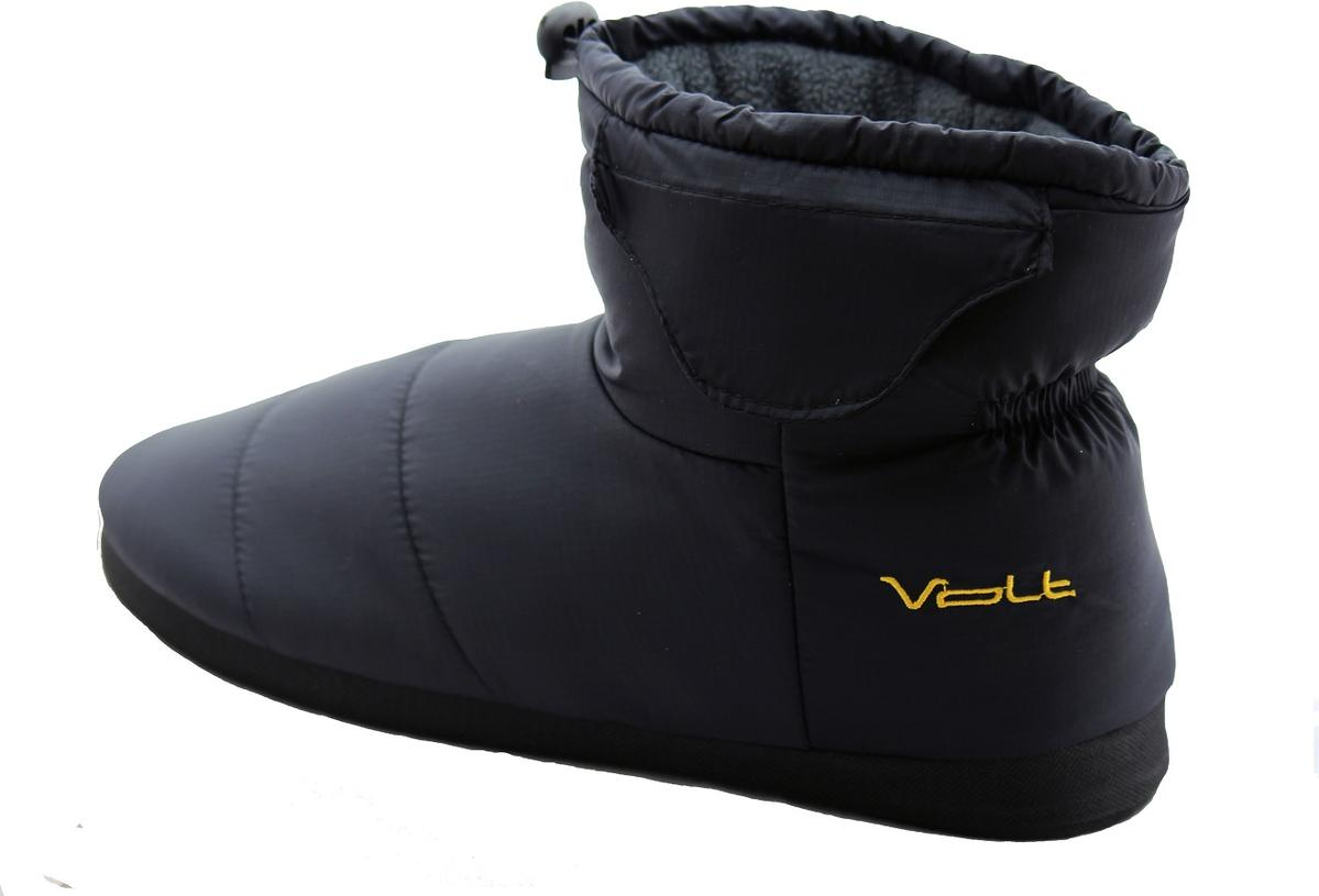 b9fc96b131e Volt 3V Generation III Battery Heated Indoor Outdoor Slippers - Black - The  Warming Store
