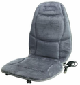 Wagan Velour Heated Seat Cushion - Grey