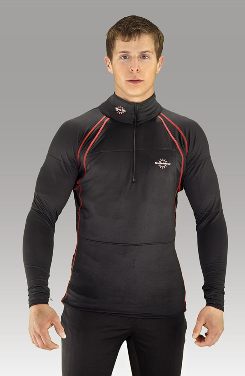 d85f2c99849f Warm & Safe Men's Black Heated Layer Long Sleeve Shirt - 7.4V Kit with  Battery - The Warming Store