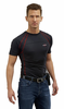 Warm & Safe Men's Black Heated Layer Short Sleeve Shirt - 7.4V Kit with Battery