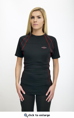 Warm & Safe Women's Black Short Sleeve Heated Layer for 7.4Volt