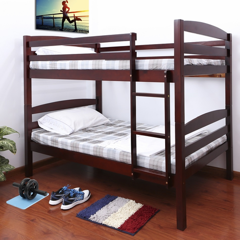 *Cherry wooden bunk bed divisible to 2 beds