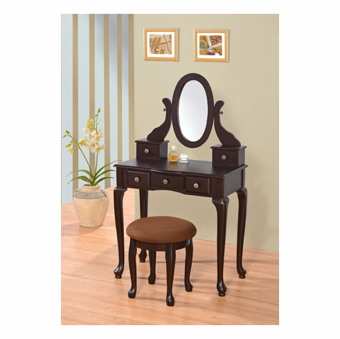 ESPREESO VICTORIAN VANITY TABLE WITH 6 DRAWERS COMES WITH STOOL