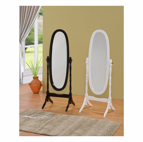 "ESPRESSO OR WHITE 60"" CHEVAL MIRROR"