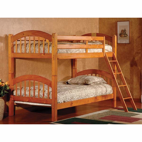 Oak  bunk bed convertible to 2 beds