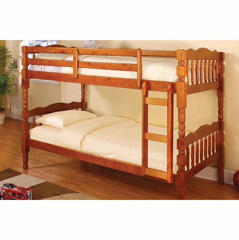 Oak Twin/Twin Bunk Bed that can separate