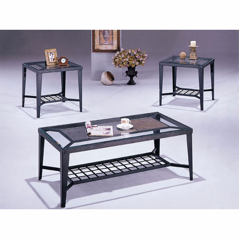 Stone style coffee & end table set