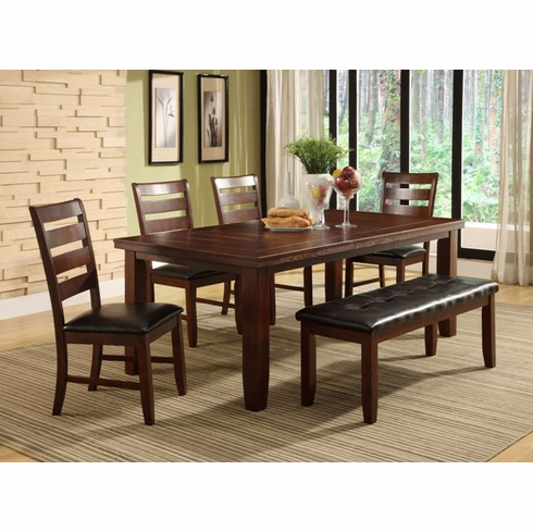 """TABLE WITH 18"""" LEAF COMES WITH 4 CHAIRS AND  BENCH"""