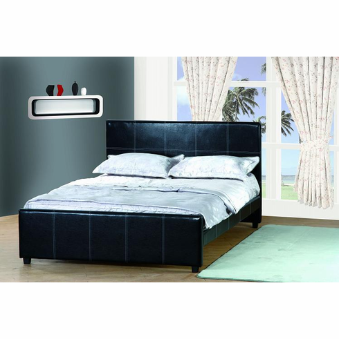 TWIN SIZE LEATHER PLATFORM BED