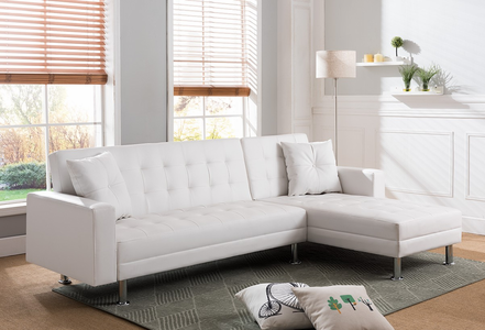 White PU Sleepy Sectional