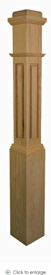 4091 Contractor Grade Raised Panel Box Newel 6-1/4 inch with Square Cap