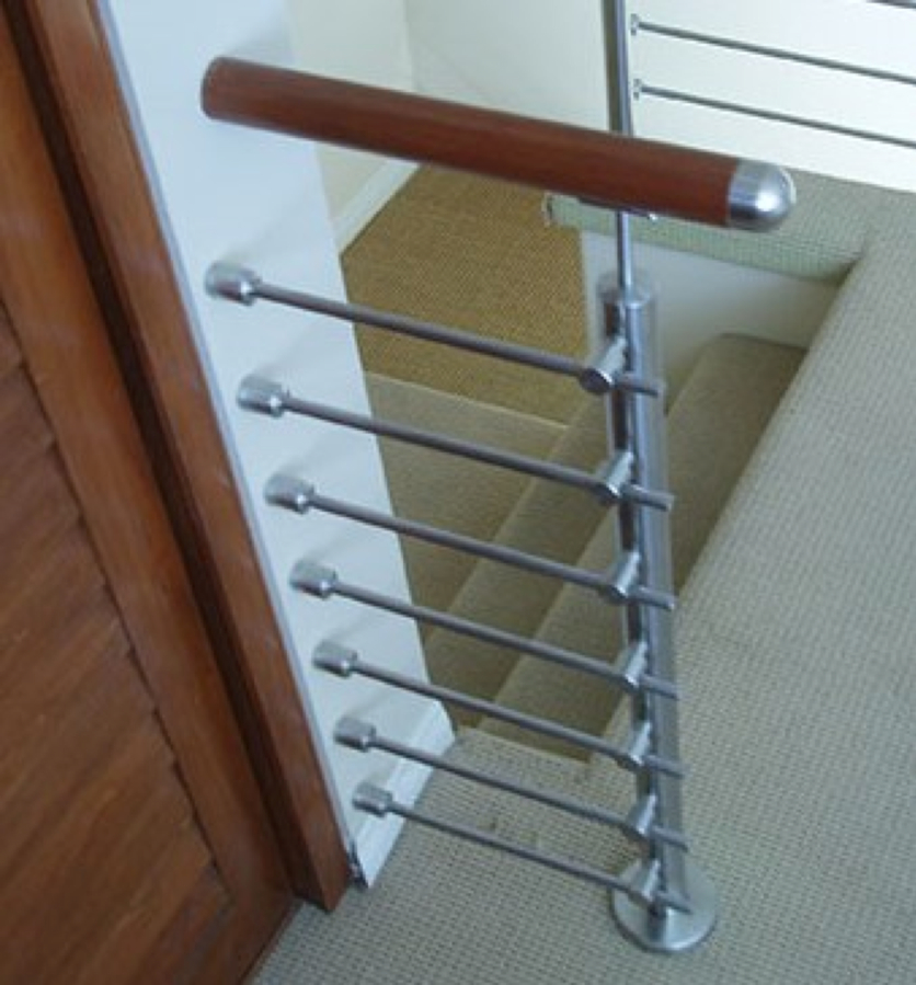 Stainless steel stair parts stainless steel stair bar for Attach wire to wall