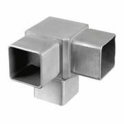 Stainless Square 3-Way Corner Fitting