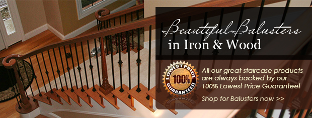 Buy Stair Parts, Iron Balusters, Newel Posts, Treads
