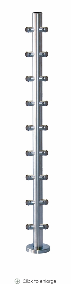Pre-drilled Corner Post with Round Bar Holders