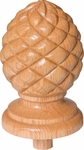 Raised Carved Pineapple Finial - 413