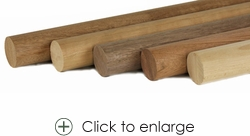 Wood Round Handrail for Stainless Fittings