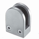 Stainless Rounded Glass Clamp for Flat Surface