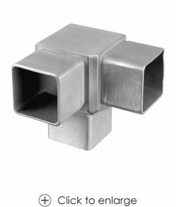Contemporary Square Stainless Railing Fittings  E4723 - 40mm