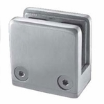 "Stainless Square Glass Clamp for Flat Surface -1/2"" Glass"