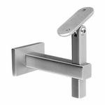 Stainless Square Wall Rail Bracket for Flat Bottom Handrail