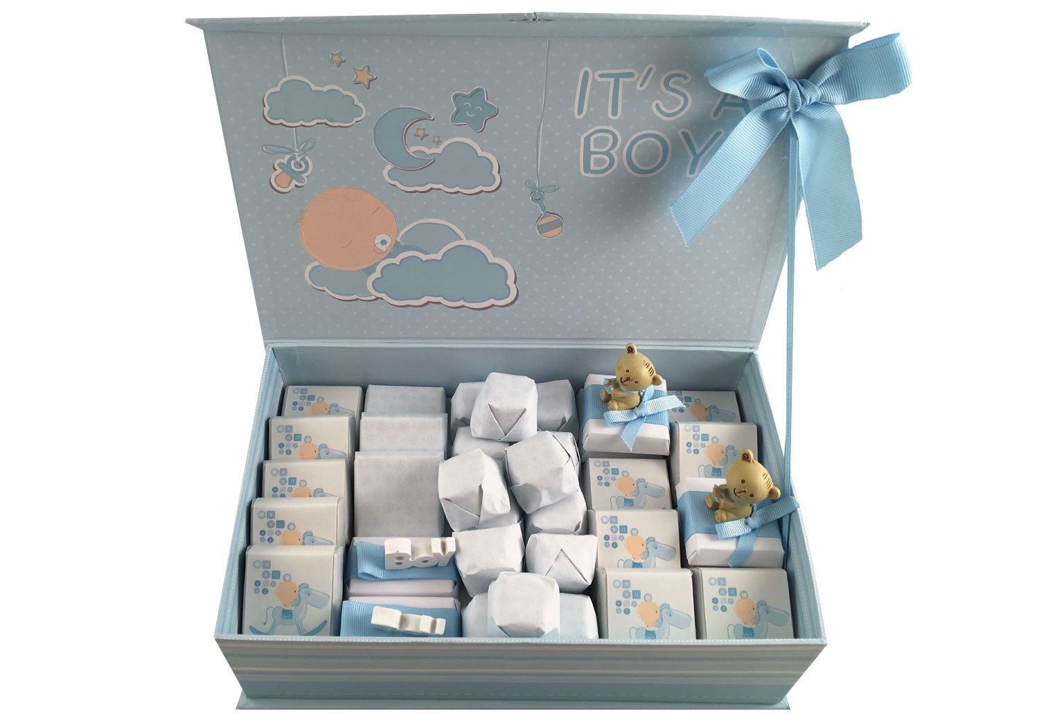 Mini Decorated Baby Boy Gift Box