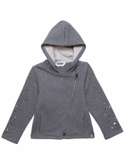 3 Pommes Ambiance Gray Knit Jacket