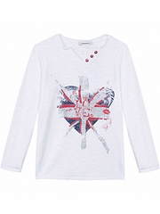 CLEARANCE:  3 Pommes British Girl Love Tee Shirt
