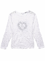 FLASH SALE - 3 Pommes Crinkle Silver Accent T-Shirt