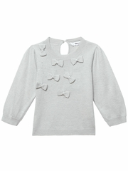FLASH SALE : 3 Pommes Light Gray Sweater