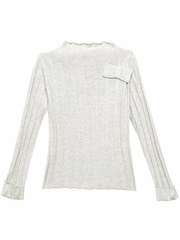 CLEARANCE: 3 Pommes Light Gray Sweater Top