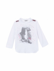 CLEARANCE: 3 Pommes Little Roar Sneaker Ballet Tee Shirt