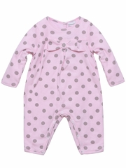 3 Pommes Pale Rose Polka Dot Jumper