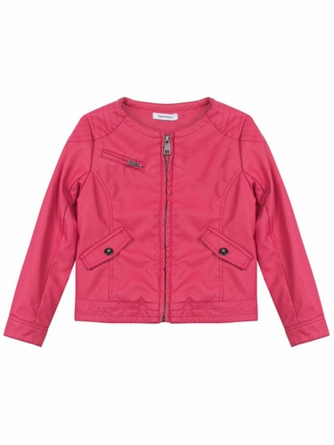3 Pommes # Roar Corail Pleather Jacket