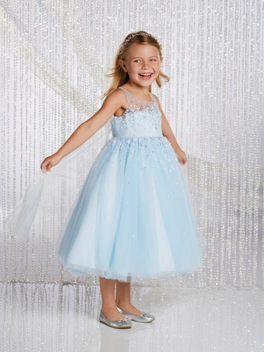 CLEARANCE - Alfred Angelo Ice Crystal Elsa Inspired Disney Princess Flower Girl Gown