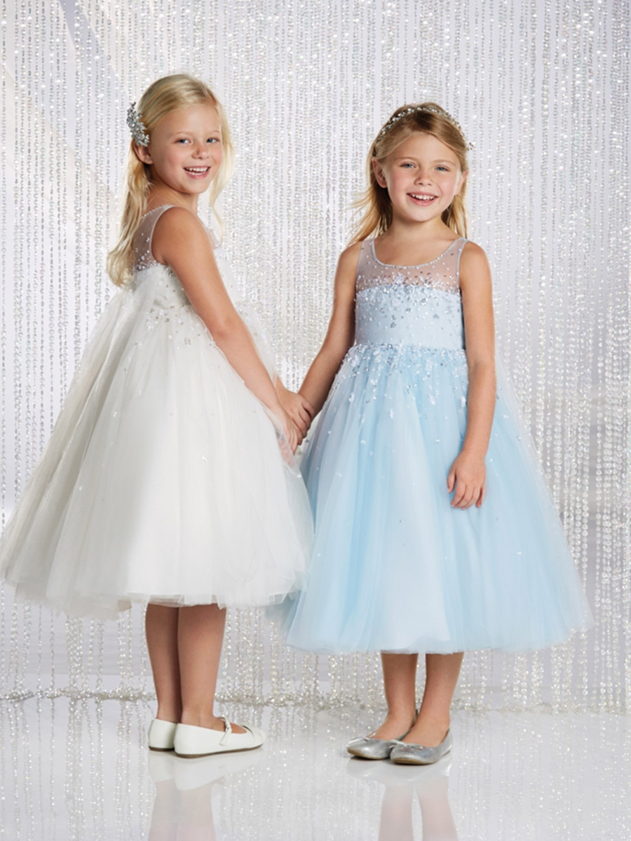 Alfred Angelo Ivory/ Silver Elsa Inspired Disney Princess Flower ...