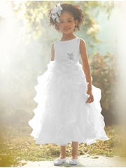 CLEARANCE - CLEARANCE - Alfred Angelo Jasmine Inspired White Shimmer Organza Dress