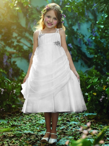 CLEARANCE - Alfred Angelo Rapunzel Inspired White Dress