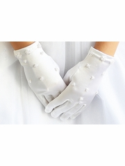 Angels Garments GL-502 White Pearl Cluster Gloves